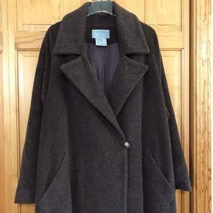 Alpaca Wool & Mohair Men's Overcoat Size Small